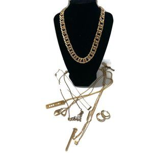 Gold tone mystery reseller jewelry lot